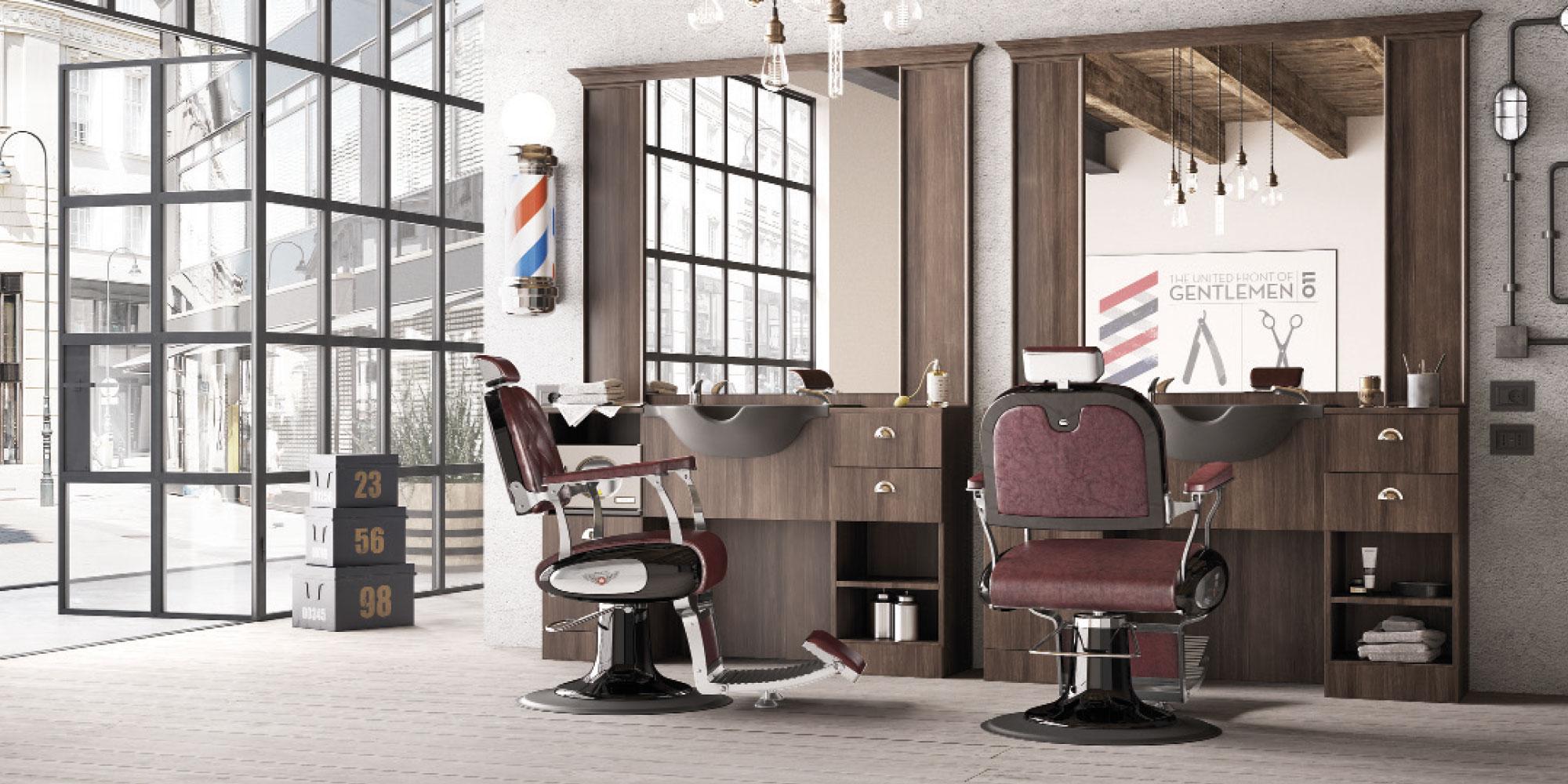 Inspiring Mobilier Salon De Coiffure Barbier